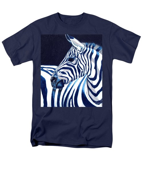 Men's T-Shirt  (Regular Fit) featuring the painting Blue Zebra by Alison Caltrider
