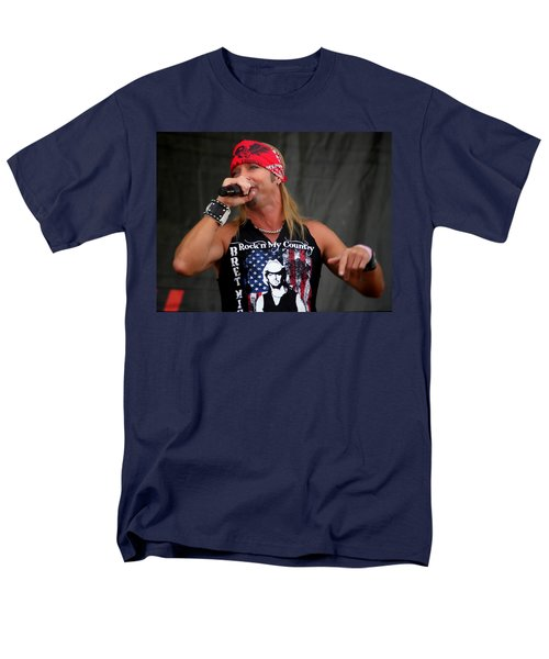 Bret Michaels In Philly Men's T-Shirt  (Regular Fit) by Alice Gipson