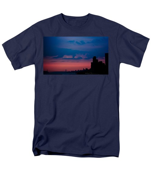 Men's T-Shirt  (Regular Fit) featuring the photograph Brooklyn Bridge Sunrise by Sara Frank