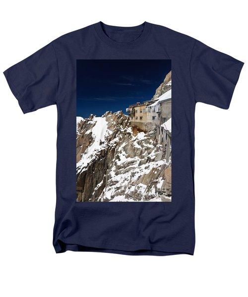 Men's T-Shirt  (Regular Fit) featuring the photograph building in Aiguille du Midi - Mont Blanc by Antonio Scarpi