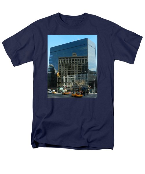 Men's T-Shirt  (Regular Fit) featuring the photograph Building Reflections Nyc by Emmy Marie Vickers