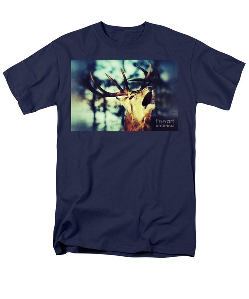 Men's T-Shirt  (Regular Fit) featuring the photograph Burling Deer by Nick  Biemans