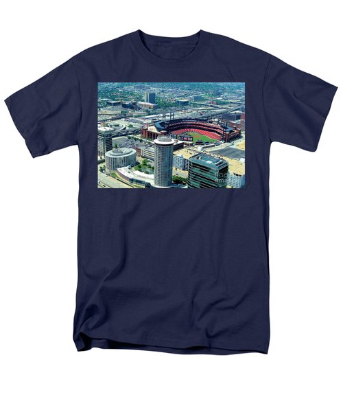 Busch Stadium From The Top Of The Arch Men's T-Shirt  (Regular Fit) by Janette Boyd