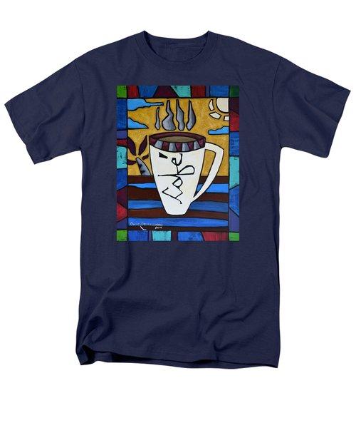 Cafe Resto Men's T-Shirt  (Regular Fit) by Oscar Ortiz