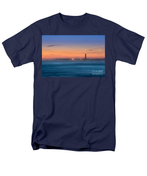 Cape May Lighthouse Sunset Men's T-Shirt  (Regular Fit) by Michael Ver Sprill