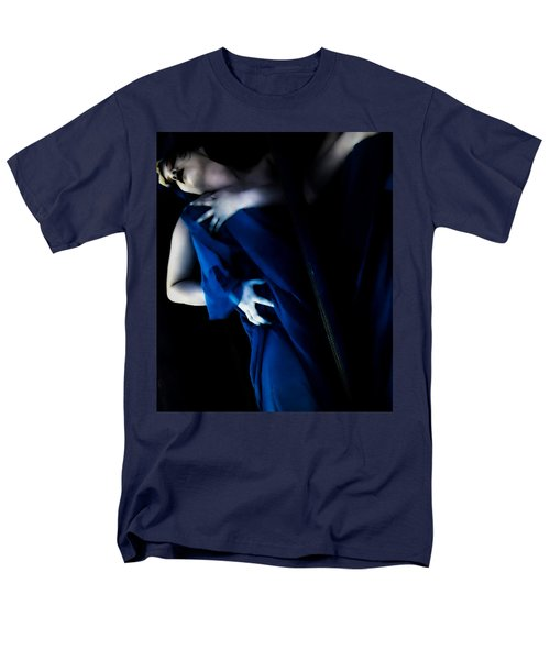 Carnal Blue Men's T-Shirt  (Regular Fit) by Jessica Shelton