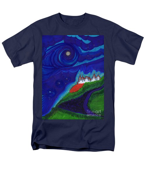 Castle On The Cliff By Jrr Men's T-Shirt  (Regular Fit) by First Star Art