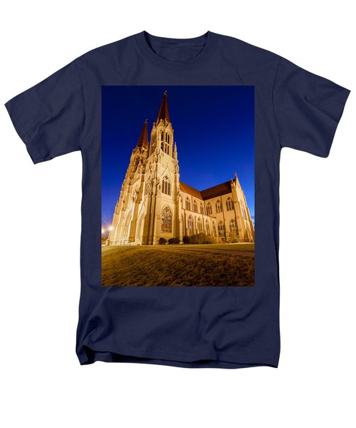Morning At The Cathedral Of St Helena Men's T-Shirt  (Regular Fit) by Fran Riley