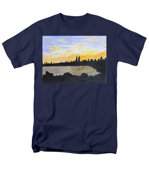 Central Park In Newyork Men's T-Shirt  (Regular Fit) by Sonali Gangane