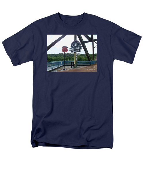 Men's T-Shirt  (Regular Fit) featuring the photograph Chain Of Rocks Bridge by Kelly Awad