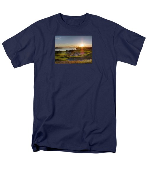 Men's T-Shirt  (Regular Fit) featuring the photograph Chambers Bay Sun Flare - 2015 U.s. Open  by Chris Anderson