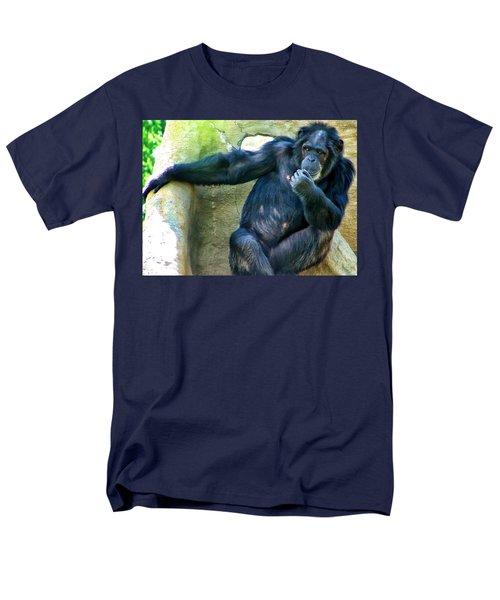 Men's T-Shirt  (Regular Fit) featuring the photograph Chimp 1 by Dawn Eshelman