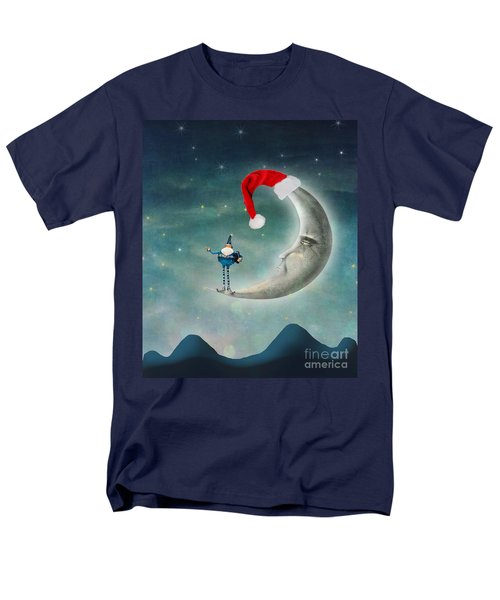 Christmas Moon Men's T-Shirt  (Regular Fit) by Juli Scalzi
