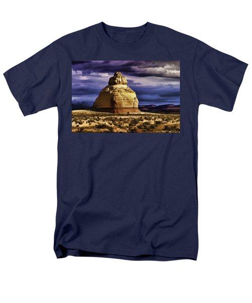 Men's T-Shirt  (Regular Fit) featuring the painting Church Rock  by Muhie Kanawati