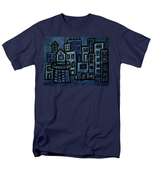 City At Night Men's T-Shirt  (Regular Fit) by Jeff Gater