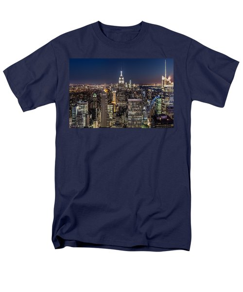 Men's T-Shirt  (Regular Fit) featuring the photograph City Lights by Mihai Andritoiu