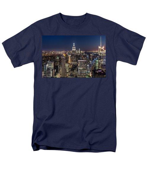 City Lights Men's T-Shirt  (Regular Fit) by Mihai Andritoiu