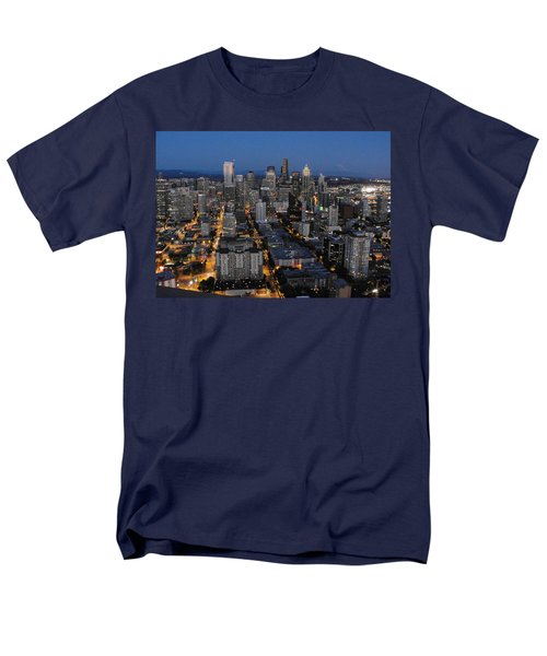 Men's T-Shirt  (Regular Fit) featuring the photograph City Lights by Natalie Ortiz