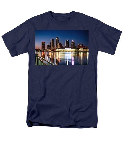 City Of Tampa Skyline  Men's T-Shirt  (Regular Fit)