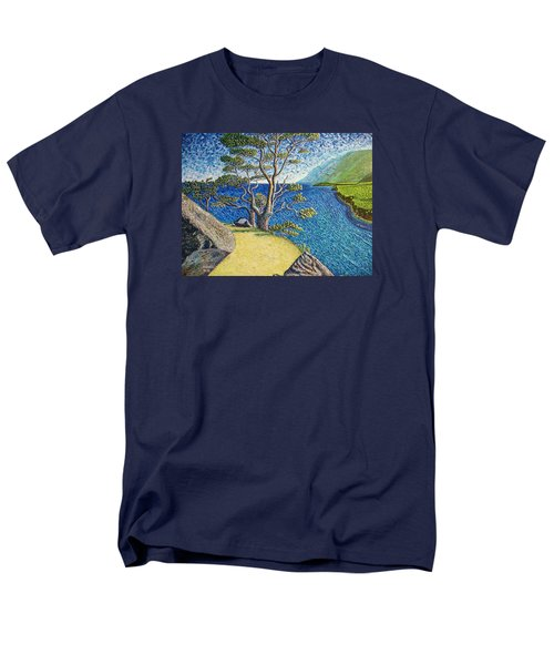 Men's T-Shirt  (Regular Fit) featuring the painting Cliff by Viktor Lazarev
