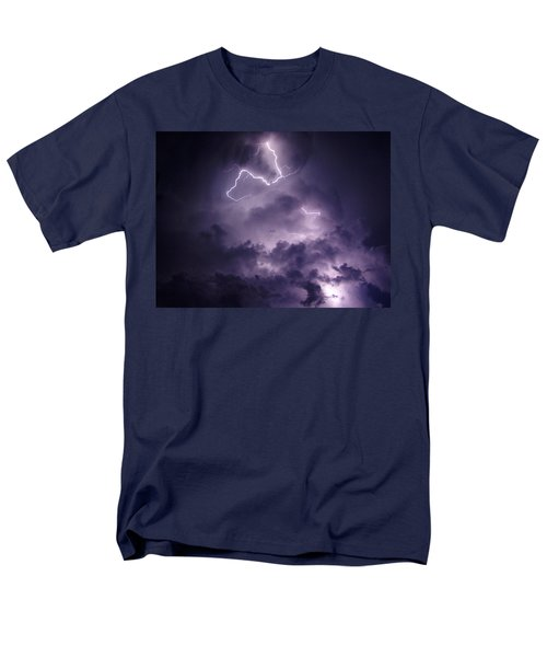 Men's T-Shirt  (Regular Fit) featuring the photograph Cloud Lightning by James Peterson