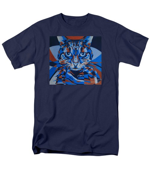 Men's T-Shirt  (Regular Fit) featuring the painting Color Cat IIi by Pamela Clements