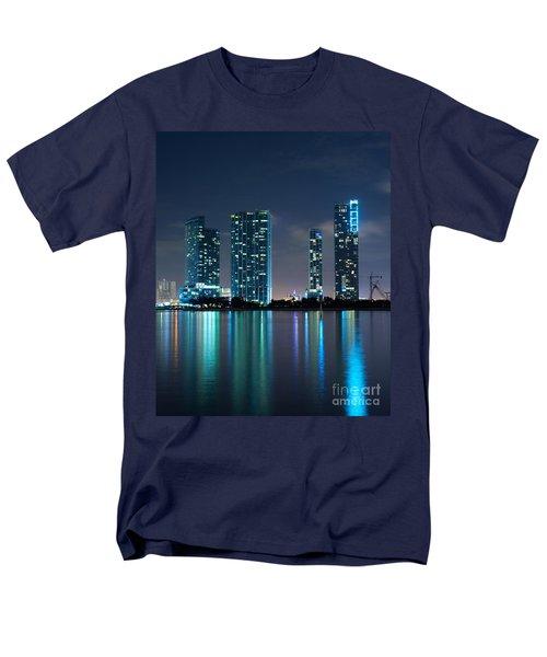 Condominium Buildings In Miami Men's T-Shirt  (Regular Fit) by Carsten Reisinger