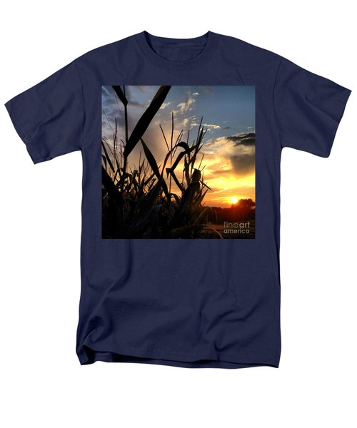 Cornfield Sundown Men's T-Shirt  (Regular Fit) by Angela Rath