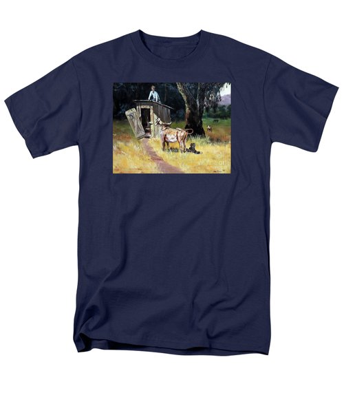 Cowboy On The Outhouse  Men's T-Shirt  (Regular Fit) by Lee Piper