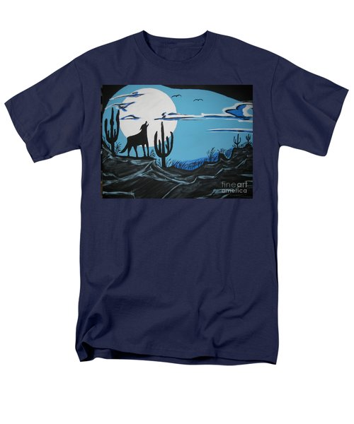 Men's T-Shirt  (Regular Fit) featuring the painting Coyote by Jeffrey Koss