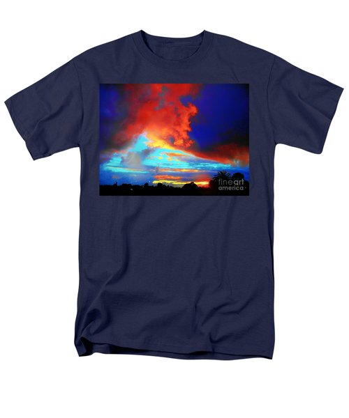 Men's T-Shirt  (Regular Fit) featuring the photograph Strange Sunset by Mark Blauhoefer