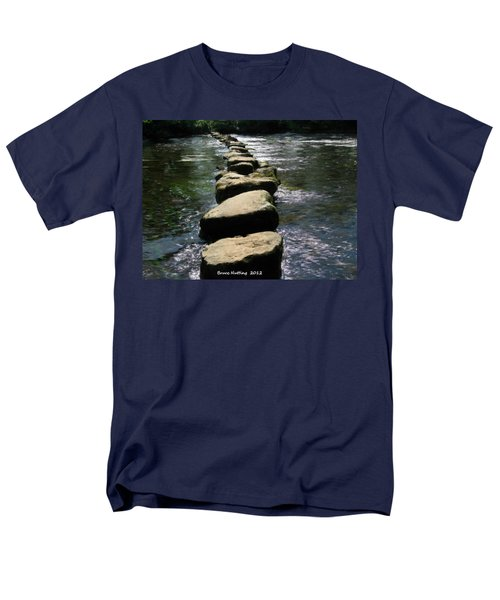Men's T-Shirt  (Regular Fit) featuring the painting Crossing The Creek by Bruce Nutting