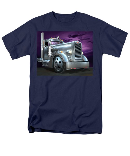 Custom Peterbilt Silver Ghost Men's T-Shirt  (Regular Fit) by Stuart Swartz
