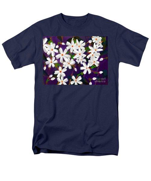 Men's T-Shirt  (Regular Fit) featuring the digital art Dancing Coral Jasmines by Latha Gokuldas Panicker