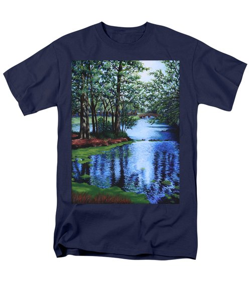 Men's T-Shirt  (Regular Fit) featuring the painting Dancing Waters by Penny Birch-Williams