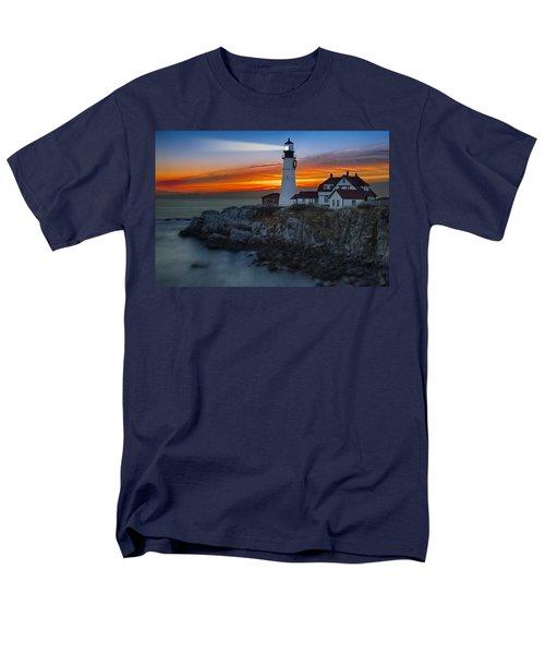 Dawn At Portalnd Head Light Men's T-Shirt  (Regular Fit) by Susan Candelario