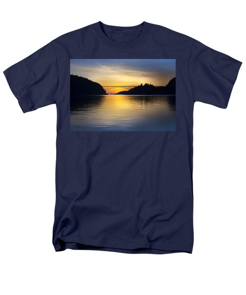 Deception Pass Bridge Men's T-Shirt  (Regular Fit) by Sonya Lang