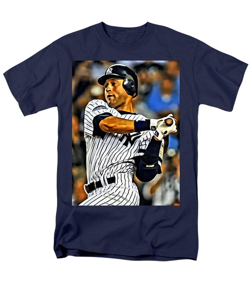 Derek Jeter In Action Men's T-Shirt  (Regular Fit) by Florian Rodarte
