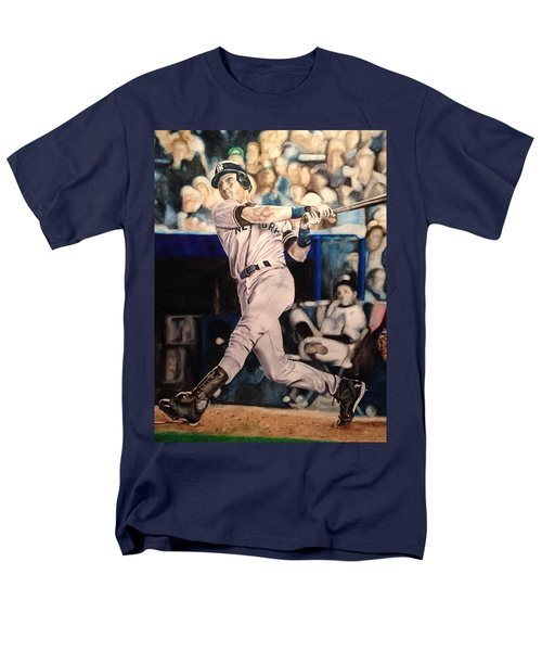Derek Jeter Men's T-Shirt  (Regular Fit) by Lance Gebhardt