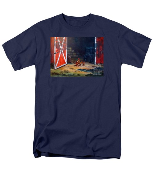 Men's T-Shirt  (Regular Fit) featuring the painting Down On The Farm by Lee Piper