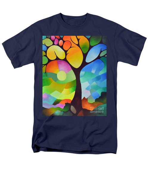 Dreaming Tree Men's T-Shirt  (Regular Fit) by Sally Trace