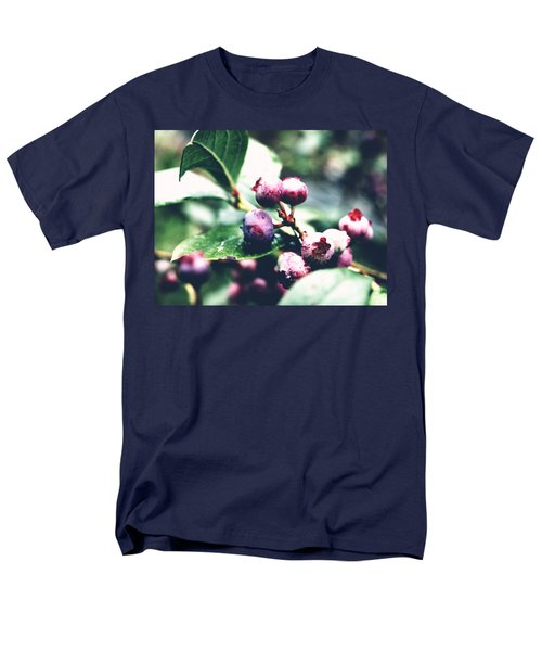 Men's T-Shirt  (Regular Fit) featuring the photograph Early Blueberries by Rachel Mirror