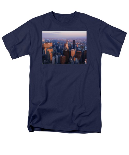 Men's T-Shirt  (Regular Fit) featuring the photograph East Coast Wonder Aerial View by Emmy Marie Vickers