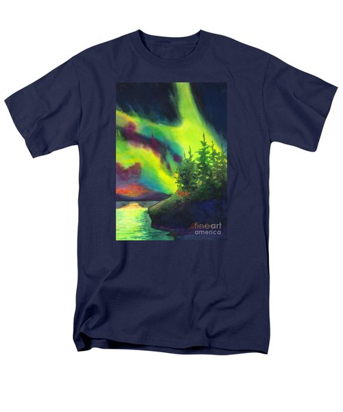 Electric Green In The Sky 2 Men's T-Shirt  (Regular Fit) by Kathy Braud