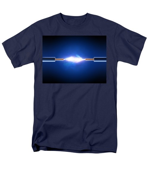 Electric Current / Energy / Transfer Men's T-Shirt  (Regular Fit) by Johan Swanepoel