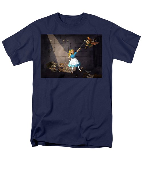 Men's T-Shirt  (Regular Fit) featuring the painting Escape by Reynold Jay