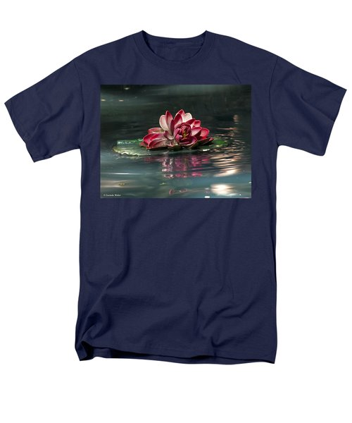 Men's T-Shirt  (Regular Fit) featuring the photograph Exquisite Water Flower  by Lucinda Walter