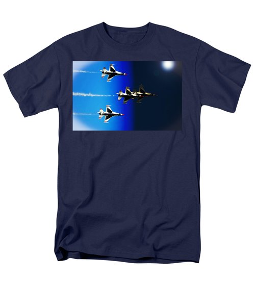 Men's T-Shirt  (Regular Fit) featuring the photograph F16 Flight Into Space by DigiArt Diaries by Vicky B Fuller
