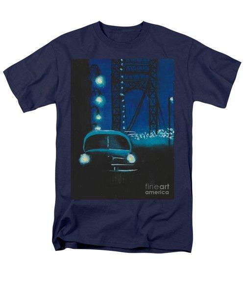 Film Noir In Blue #1 Men's T-Shirt  (Regular Fit)
