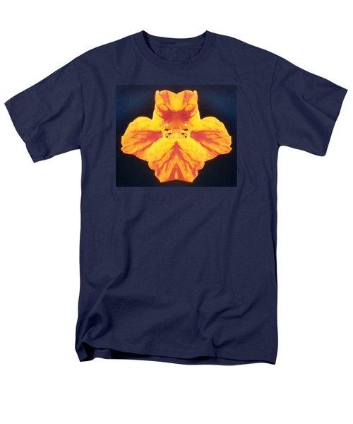 Bright Orange Floating Nasturtium Men's T-Shirt  (Regular Fit) by Belinda Lee
